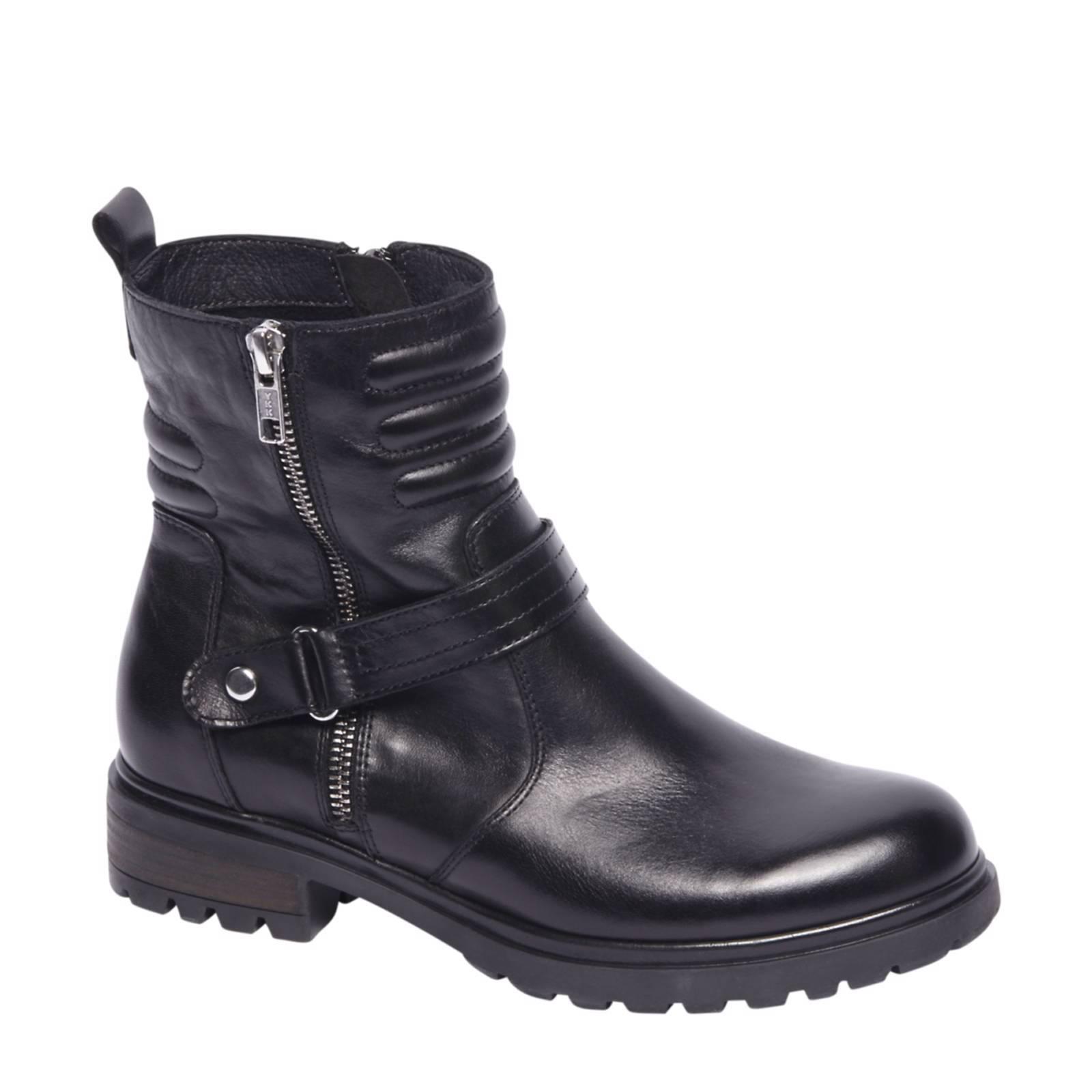 5ème Avenue Des Chaussures Noires Avec Fermeture À Glissière Pour Les Femmes 1P4UIj