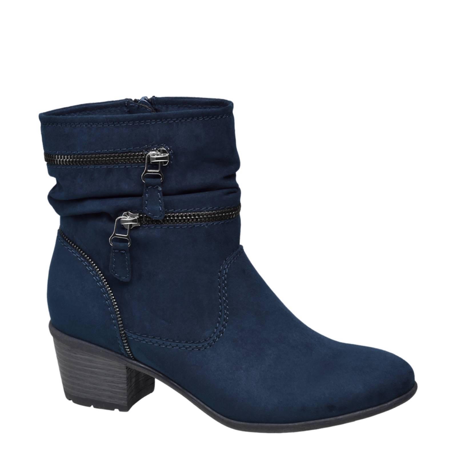 Chaussures Graceland Bleu Avec Fermeture Éclair Pour Les Femmes v7vwMki9xS
