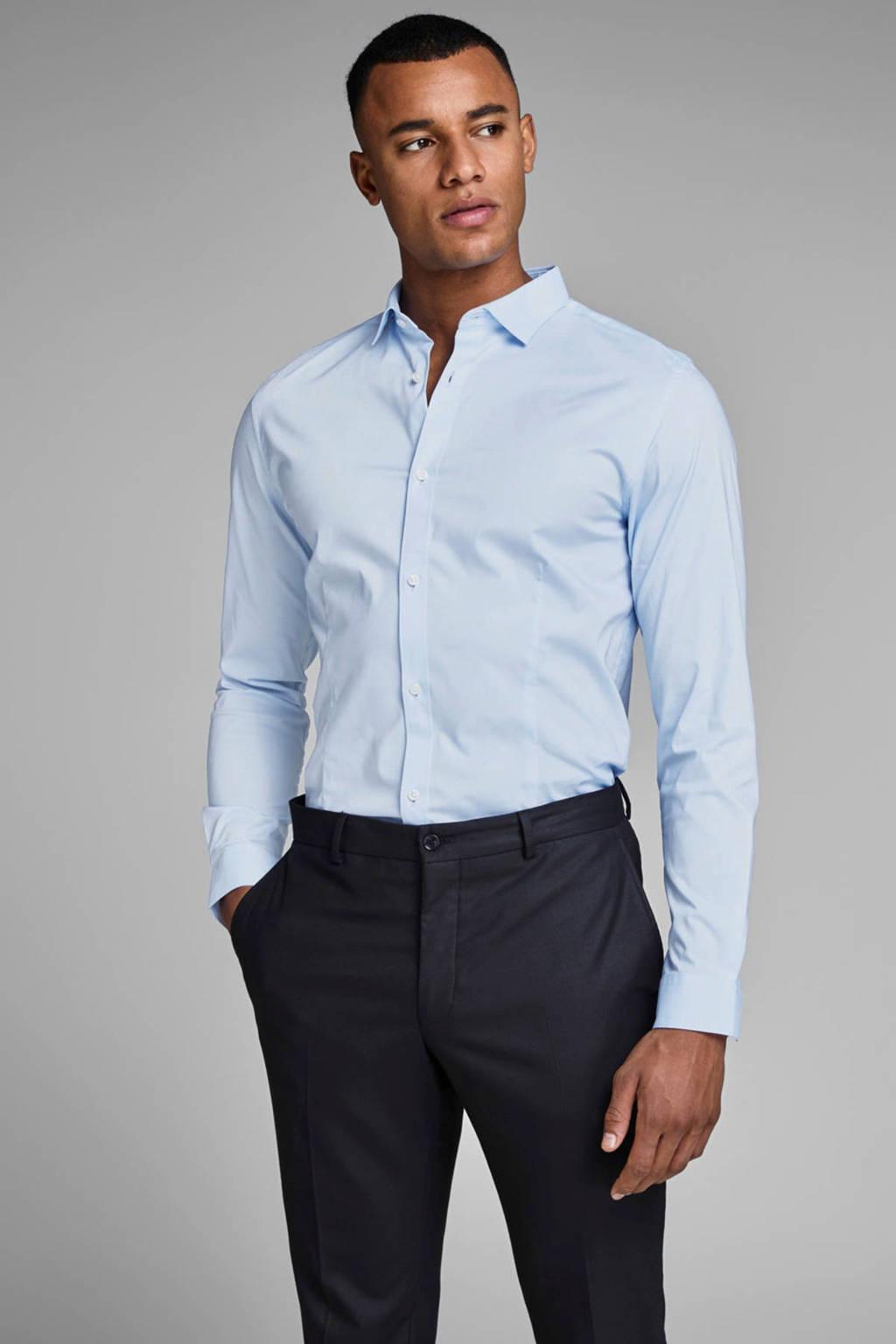 JACK & JONES PREMIUM Parma super slim fit overhemd, Lichtblauw