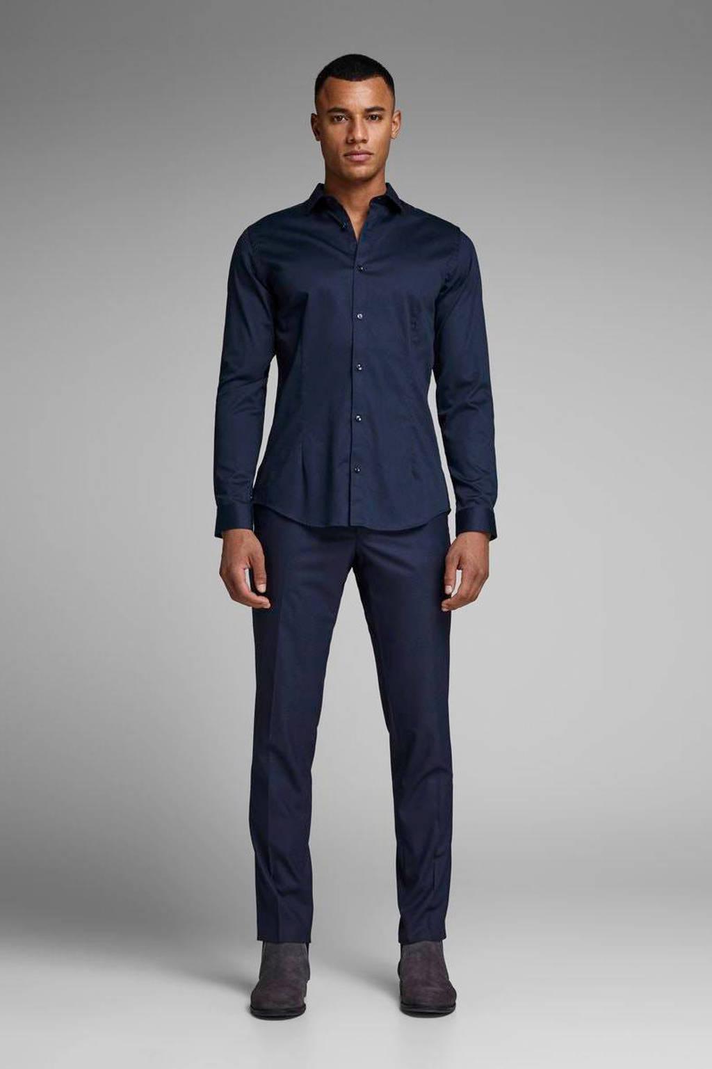 JACK & JONES PREMIUM Parma super slim fit overhemd, Navy