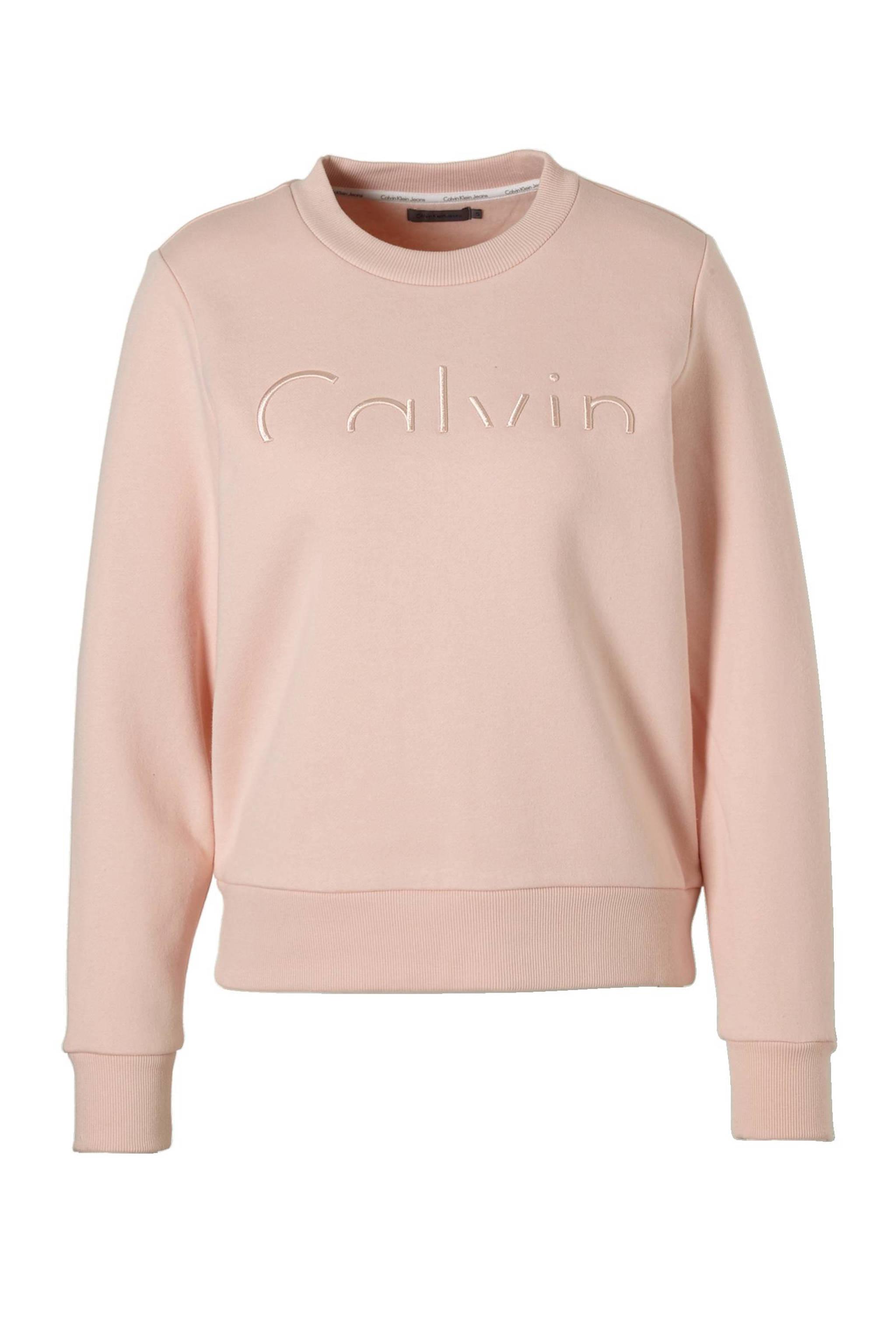 Licht Roze Trui.Calvin Klein Jeans Hadar Sweater Wehkamp