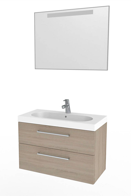 Bruynzeel sanitair badkamermeubel Luca 80 , Grijs eiken