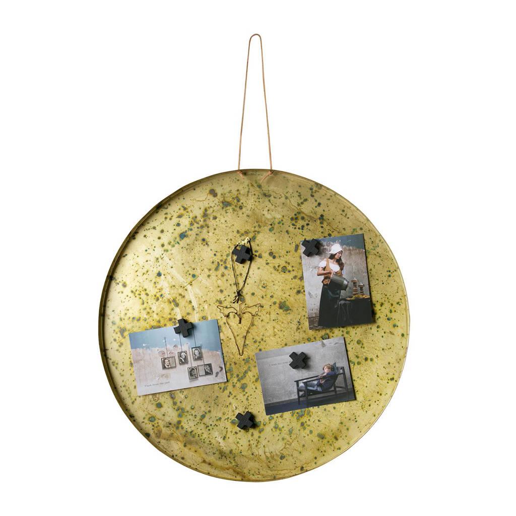BePureHome magneetbord Memories (Ø50 cm), Goud