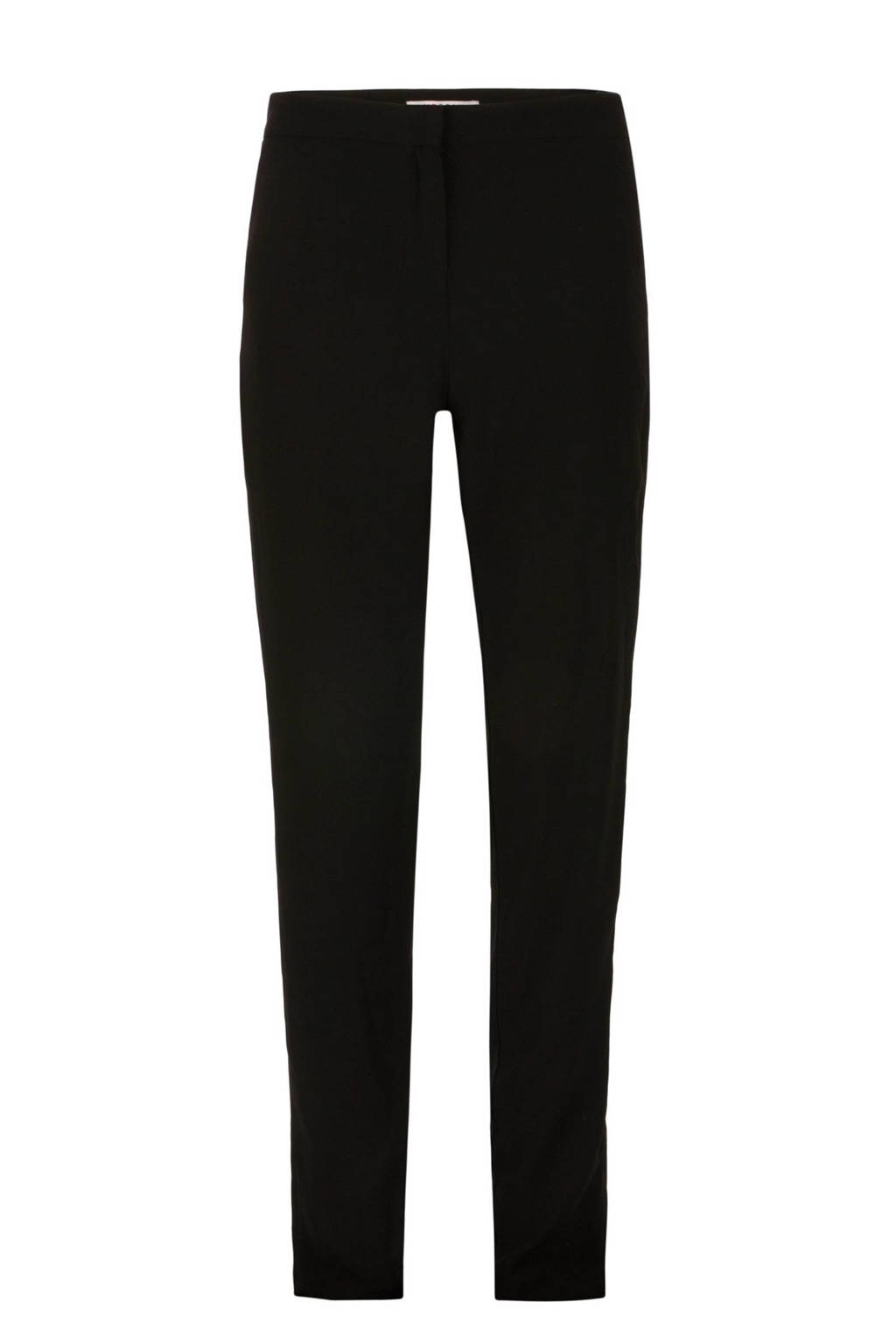 Morgan straight fit pantalon, Zwart