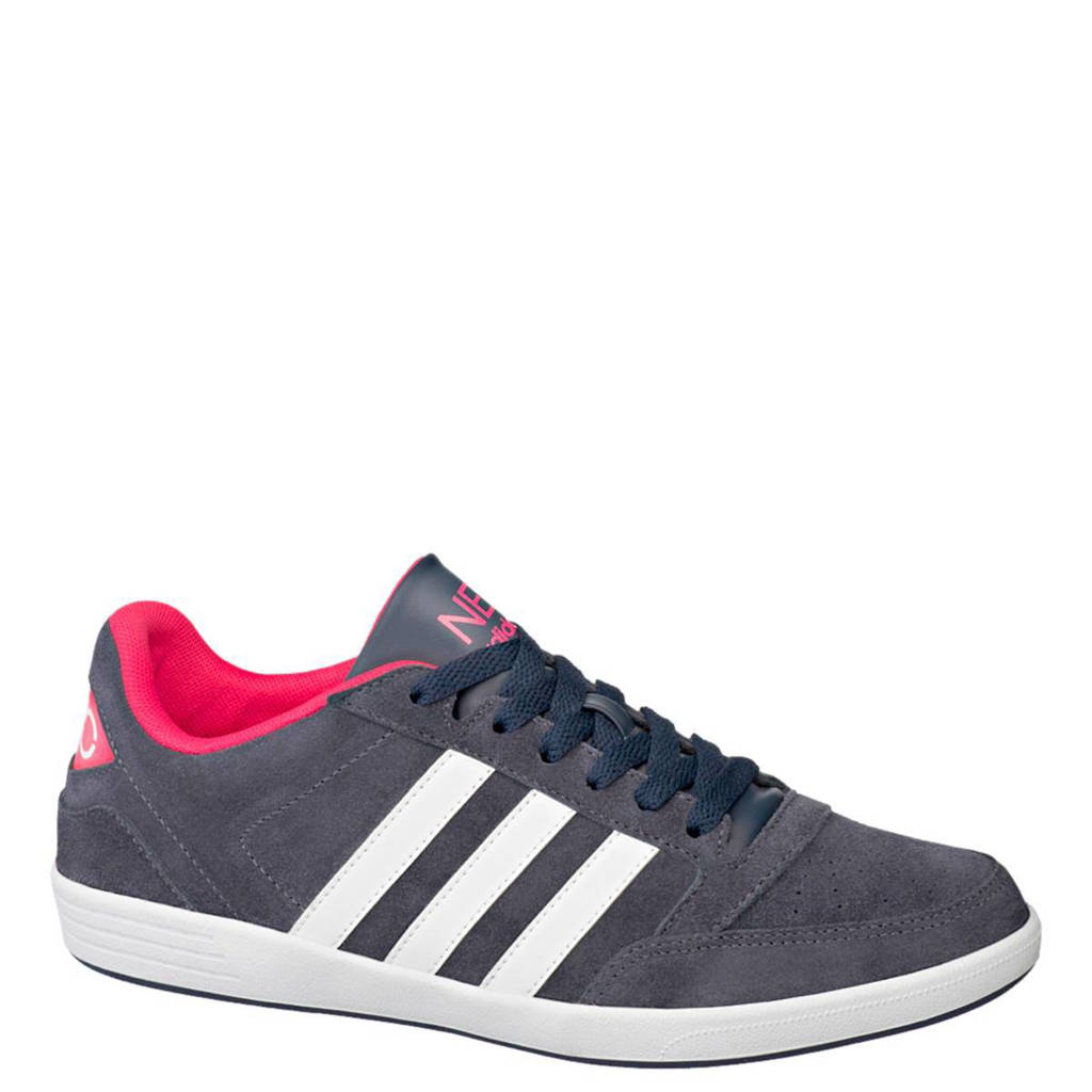 e53775dcdcb adidas leren sneakers, Donkerblauw/wit/roze