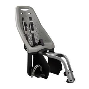 Maxi zadelbuis fietsstoeltje achter zilver