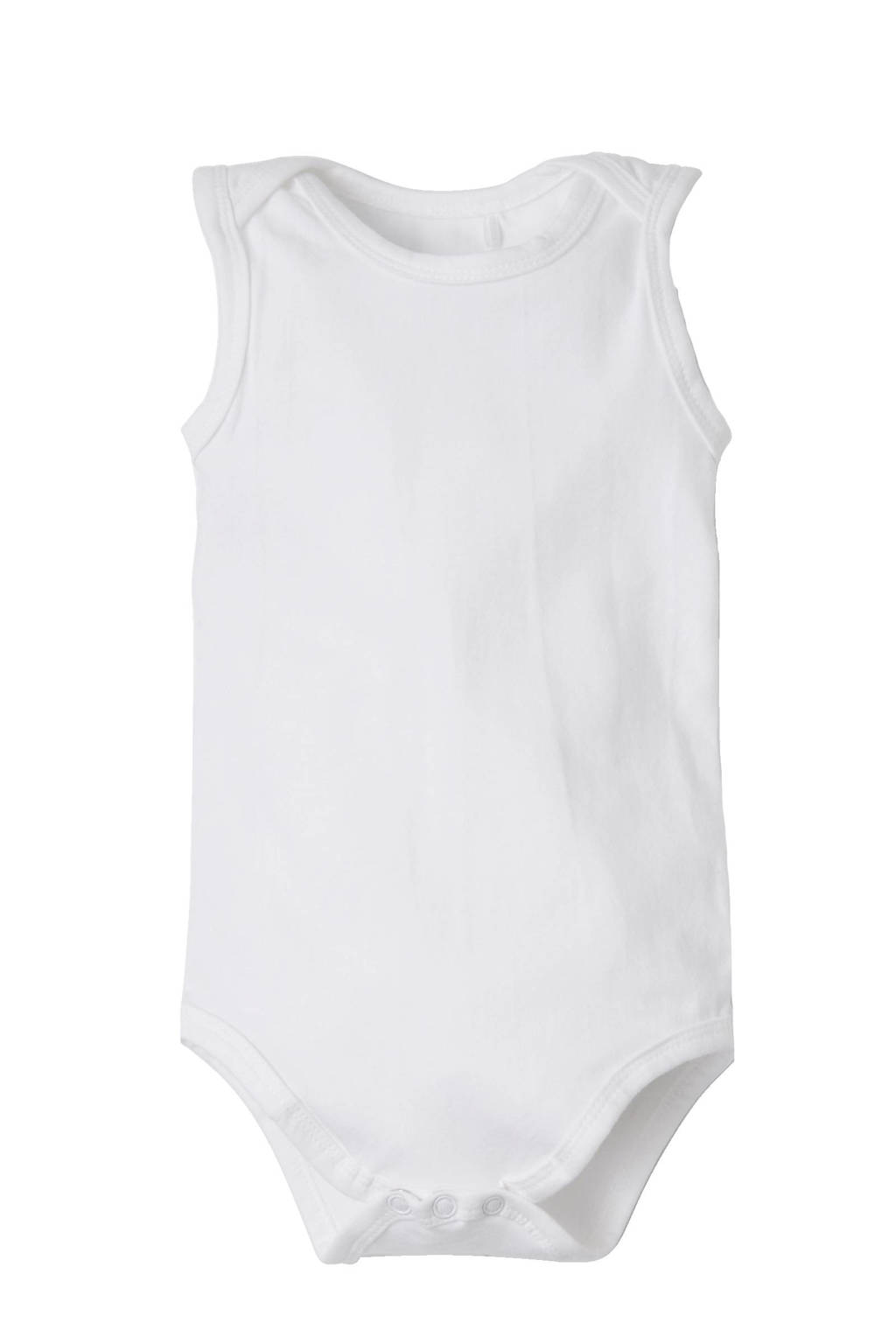 Dirkje newborn baby romper - set van 3, Wit, Mouwloos