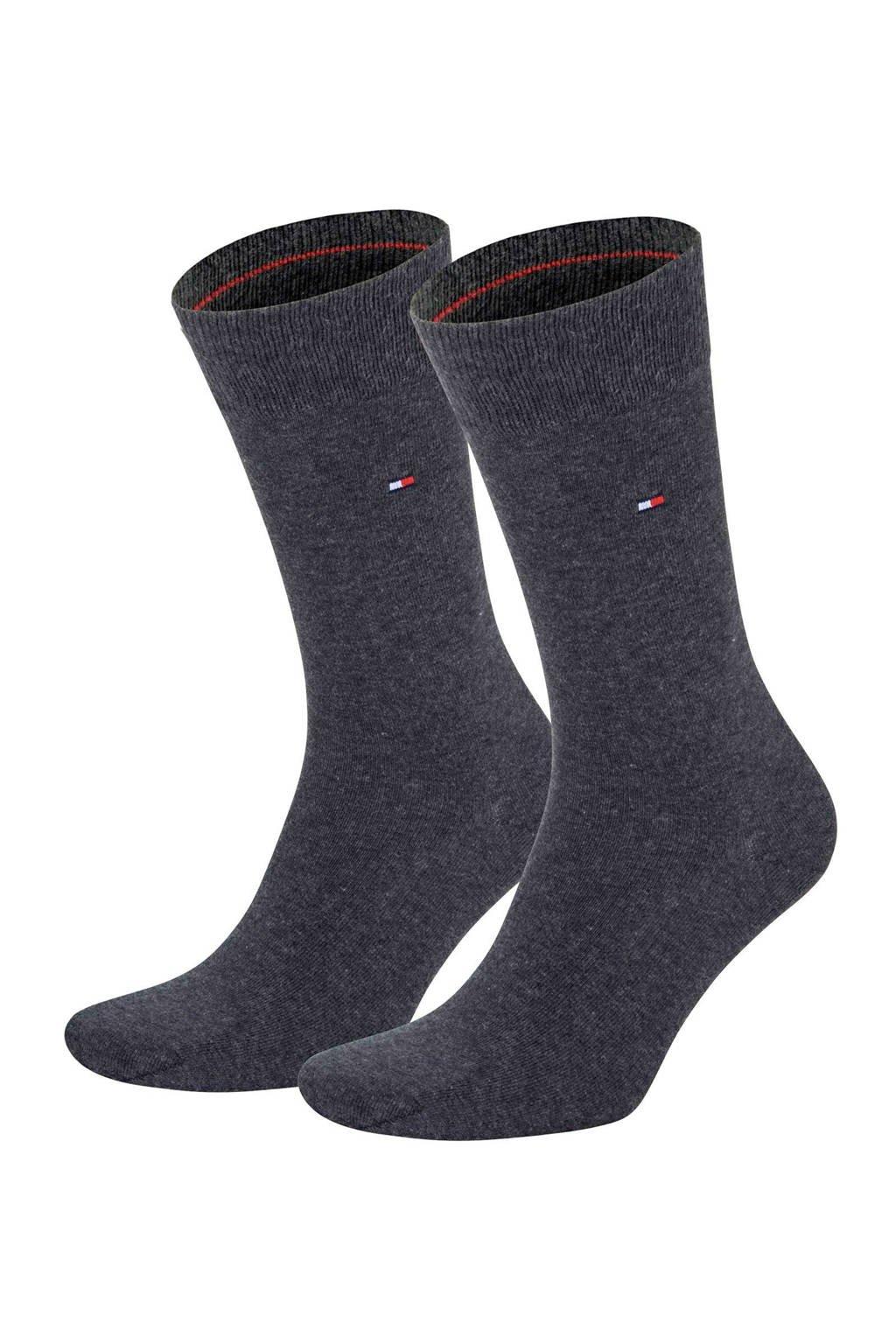 Tommy Hilfiger sokken (2 paar), Antraciet melange