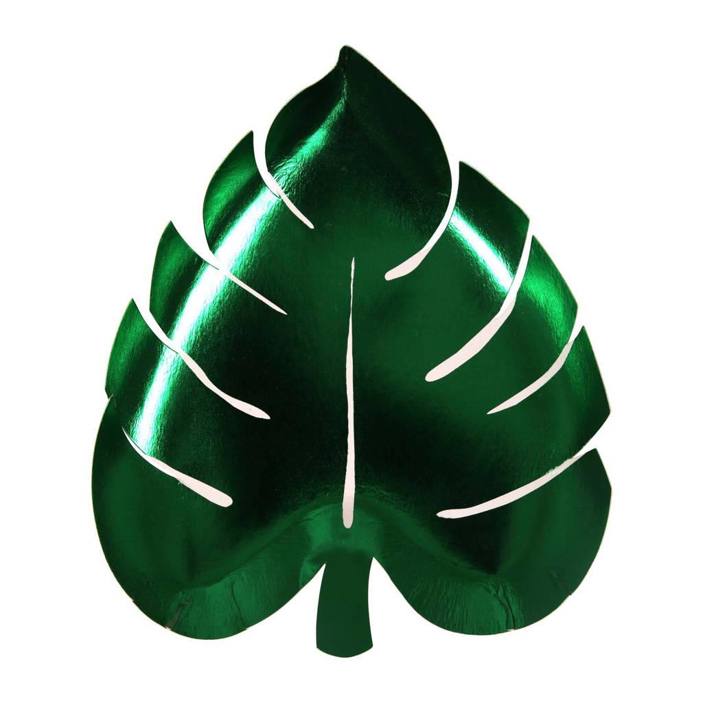 Meri Meri papieren borden (19x22 cm) (set van 8), Groen