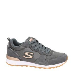 suède sneakers grijs