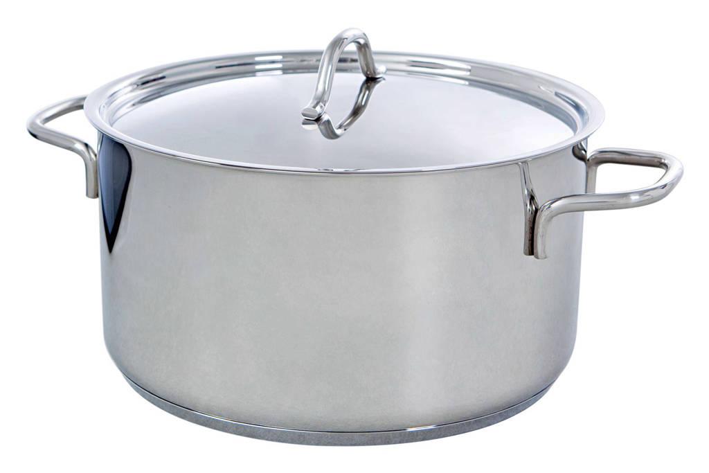 BK Profiline kookpan, 24 cm - 6 liter, Zilver