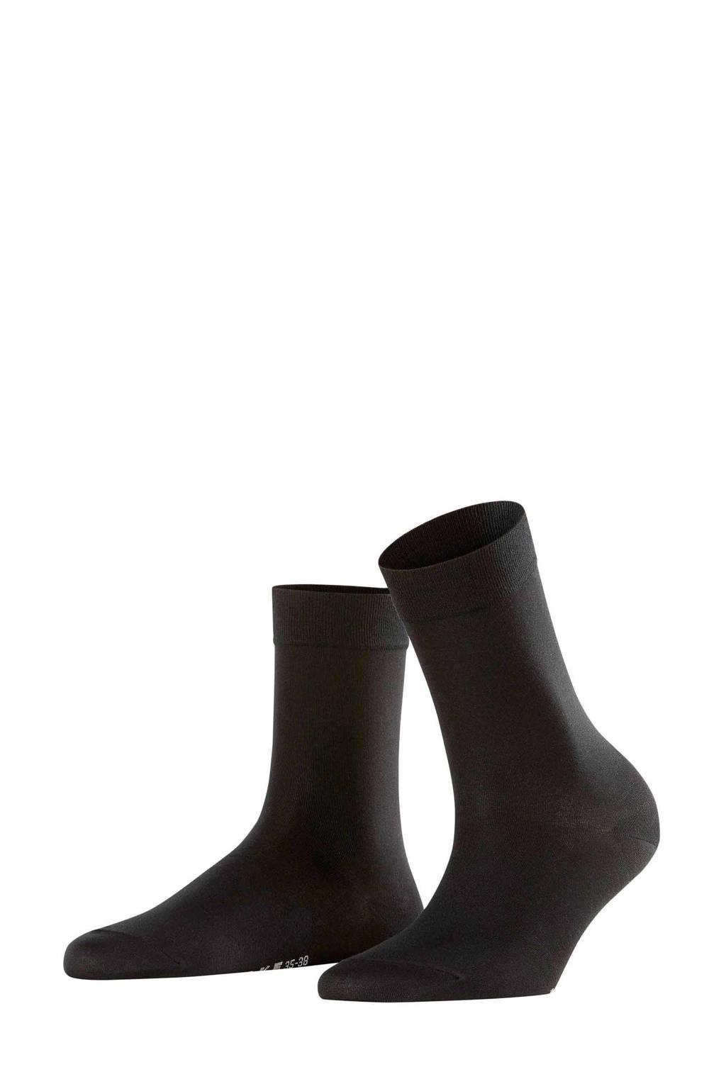 FALKE Cotton Touch sokken zwart, Zwart