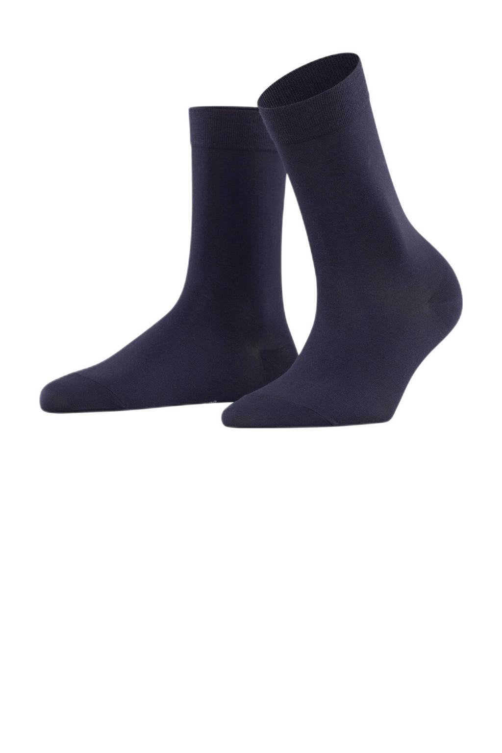 FALKE Cotton Touch sokken donkerblauw, Donkerblauw