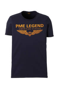 PME Legend T-shirt met logo marine, Marine