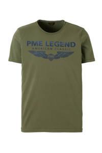 PME Legend T-shirt met logo groen, Groen