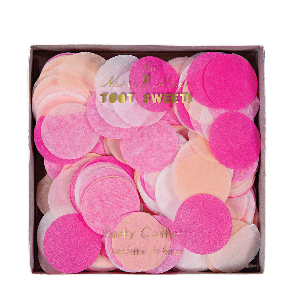 Meri Meri confetti Pink Party, Roze