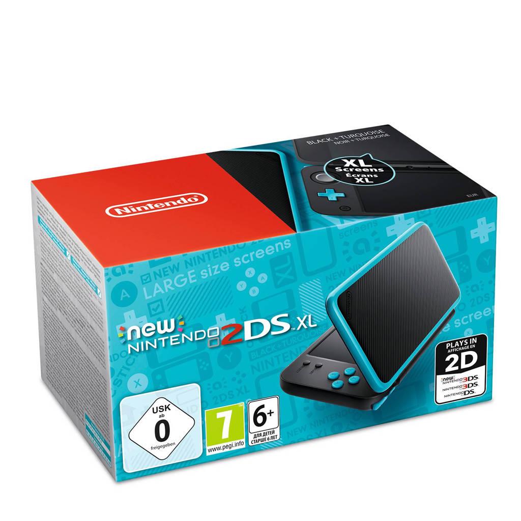 Nintendo 2DS XL - zwart/blauw, Zwart/blauw