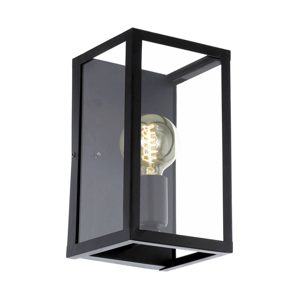 EGLO wandlamp Charterhouse, zwart/helder