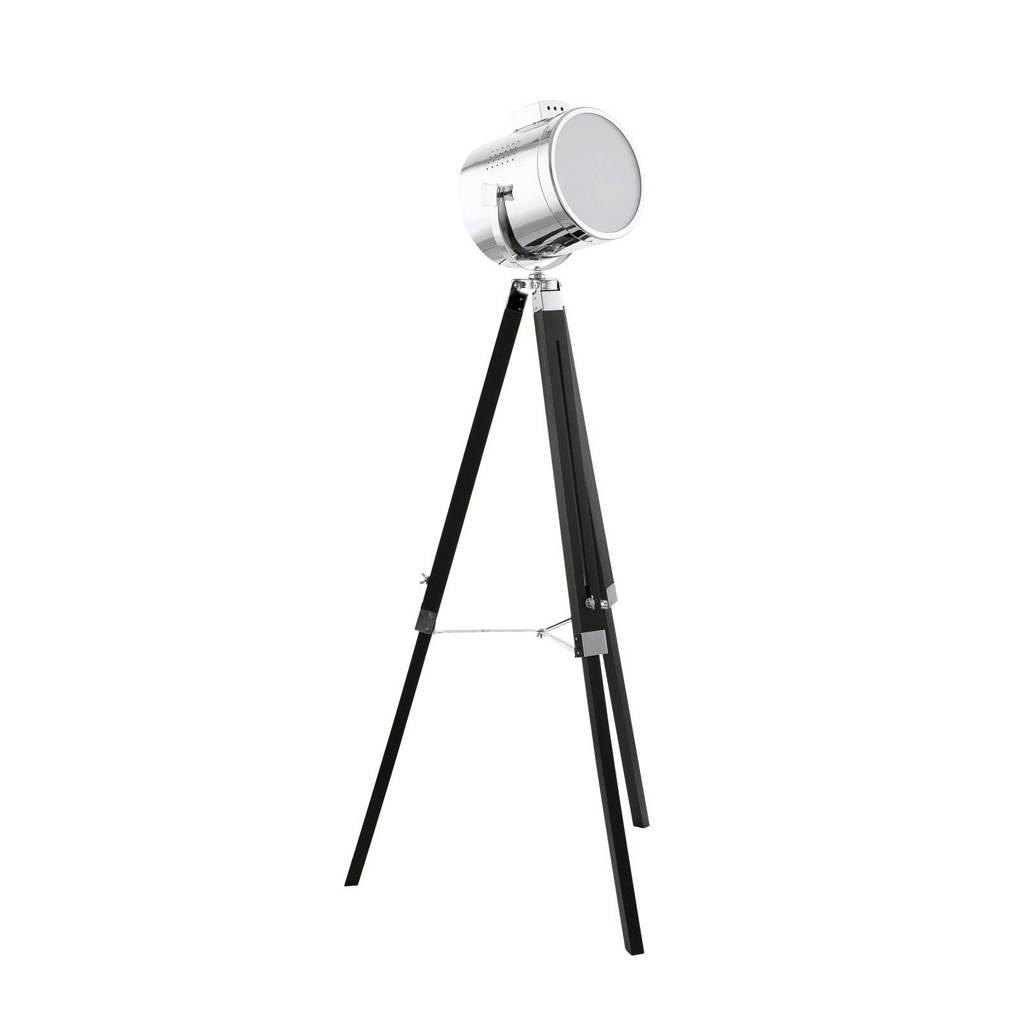 Eglo vloerlamp (ø 70 cm), Zwart/chroom