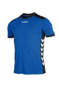 hummel Junior  sport T-shirt, Blauw/zwart