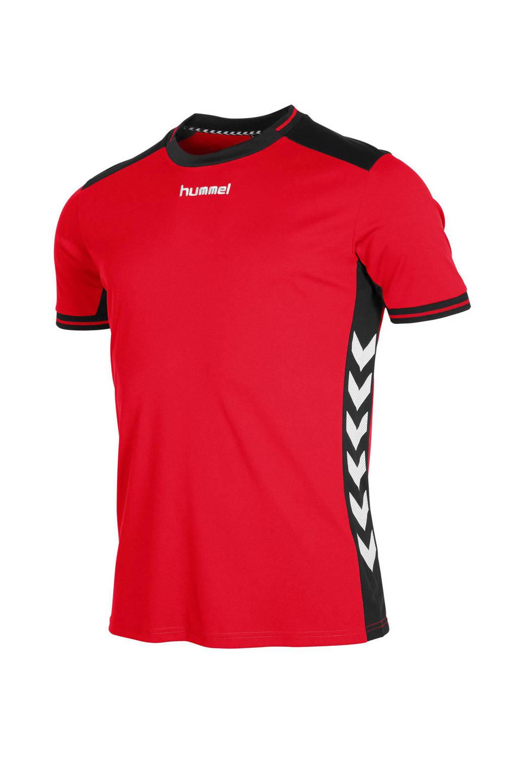hummel   sport T-shirt, Rood/zwart