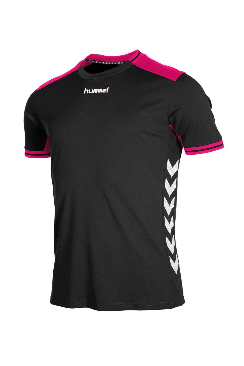 hummel   sport T-shirt, Zwart/ roze