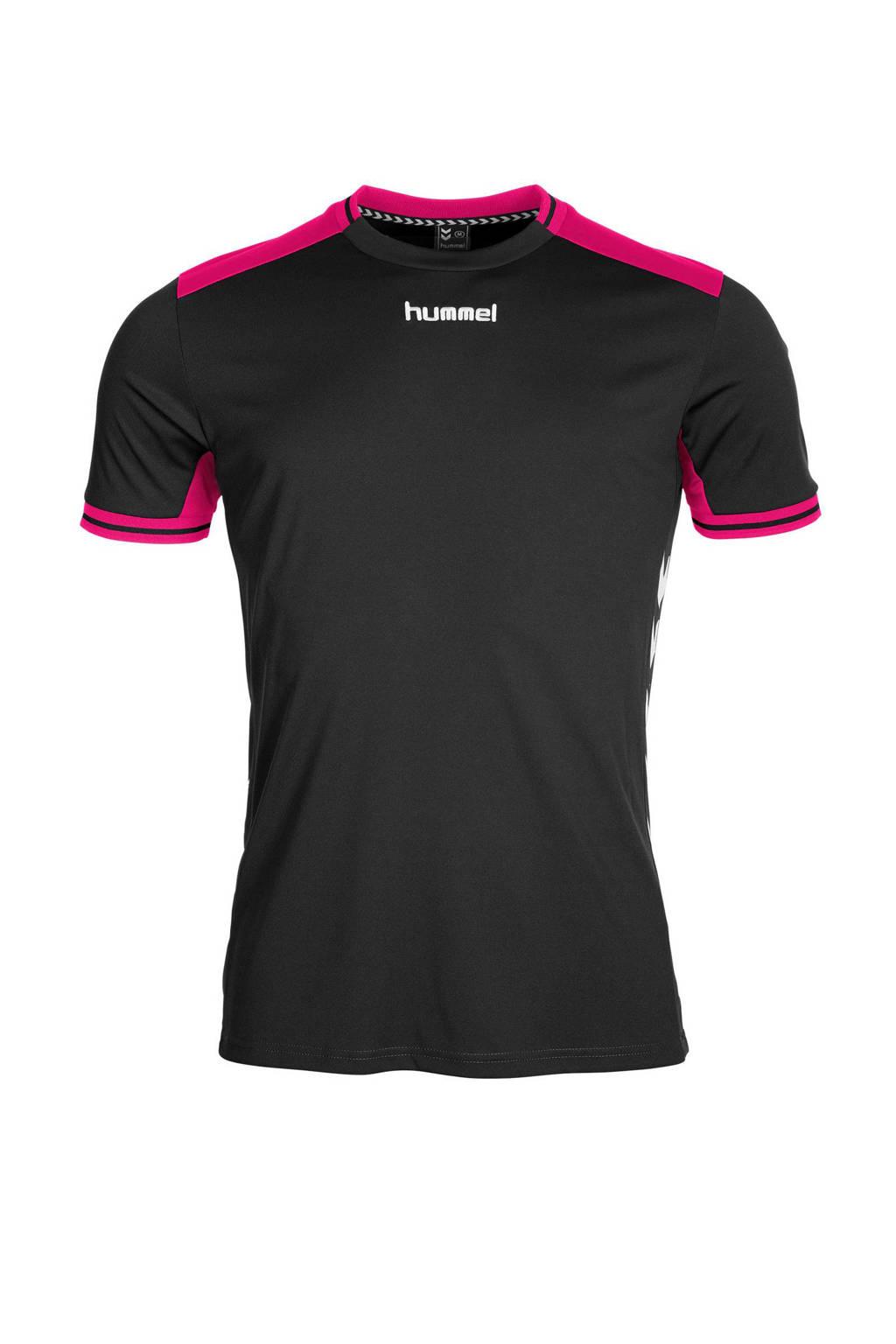 hummel   sport T-shirt, Zwart/roze
