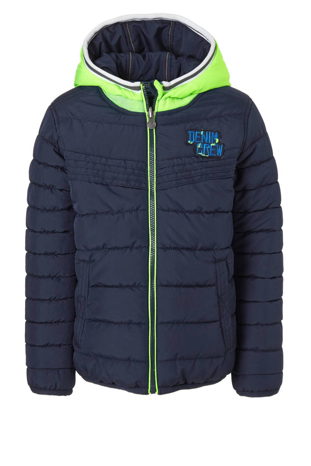 3a7a2c5391cc3d Vingino reversible winterjas, Donkerblauw/blauw/groen