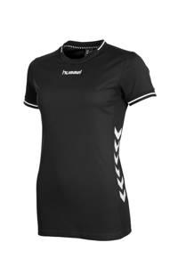 hummel sport T-shirt zwart/wit, Zwart/wit