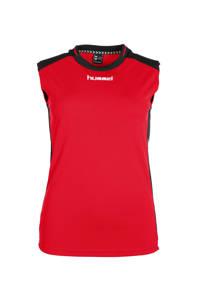hummel sporttop, Rood/zwart