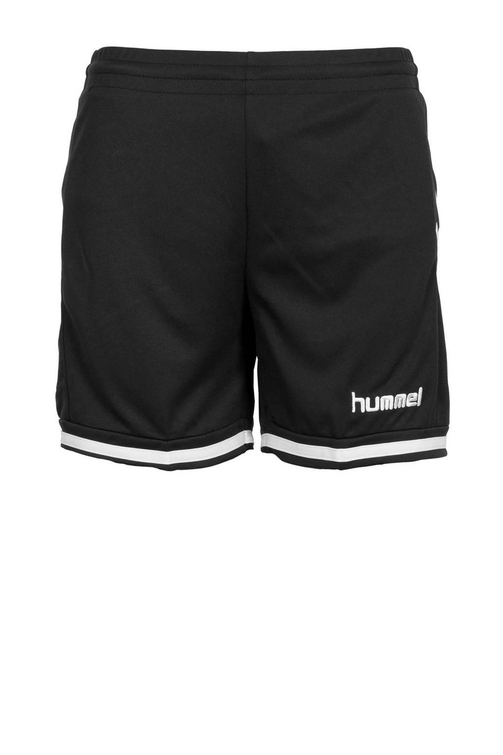hummel sportshort, Zwart/wit