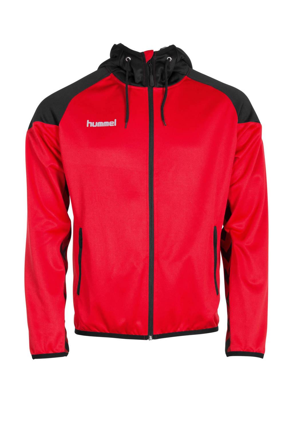 hummel Junior  sportvest, Rood/zwart