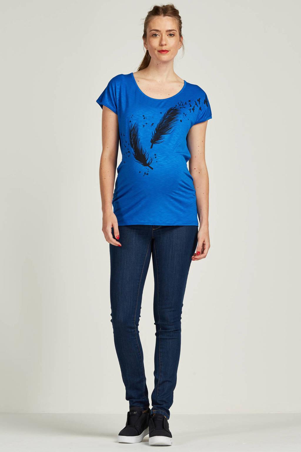 MAMA-LICIOUS positie slim jeans, dark denim blue