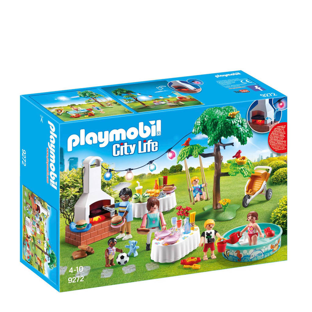 Playmobil City Life  familiefeest met barbecue