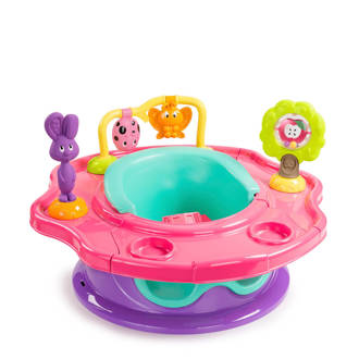 SuperSeat Forest Friends activiteitenzitje roze/mint/paars