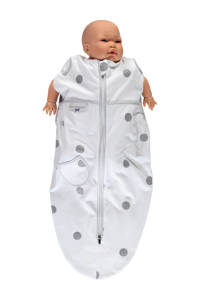 Puckababy The Original Mini baby inbakerdoek 3-6 mnd white dotty, White dotty