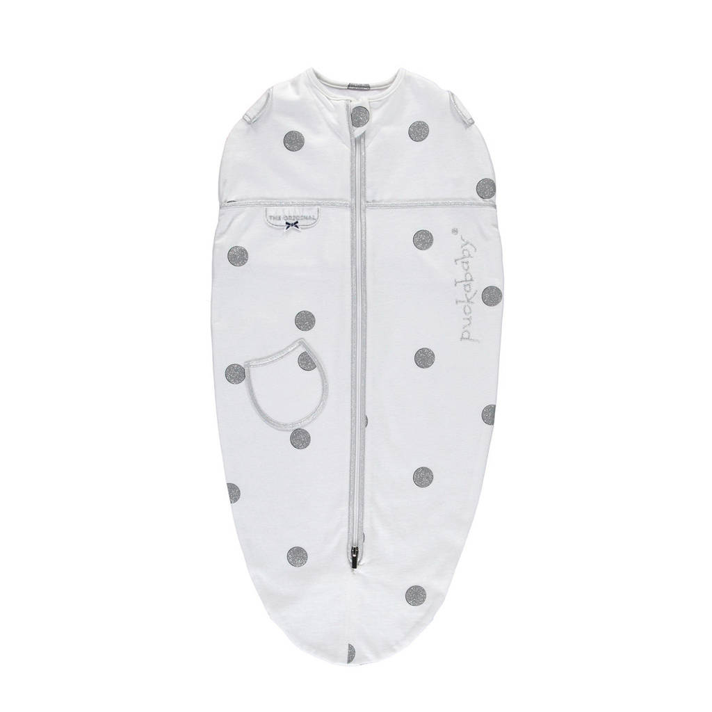 Puckababy The Original Mini baby inbakerdoek 3-6 mnd white dotty, White dotty