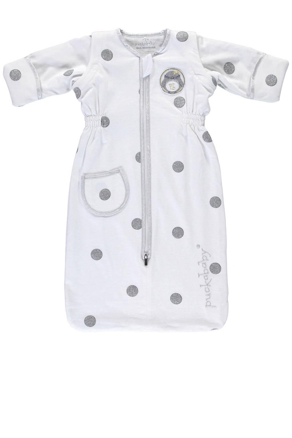 Puckababy The Bag Newborn slaapzak 0-6 mnd white dotty, White dotty