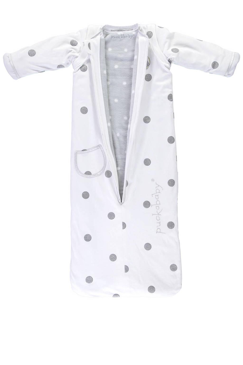 Puckababy The Bag 4 Seasons slaapzak 6-30 mnd white dotty, White dotty