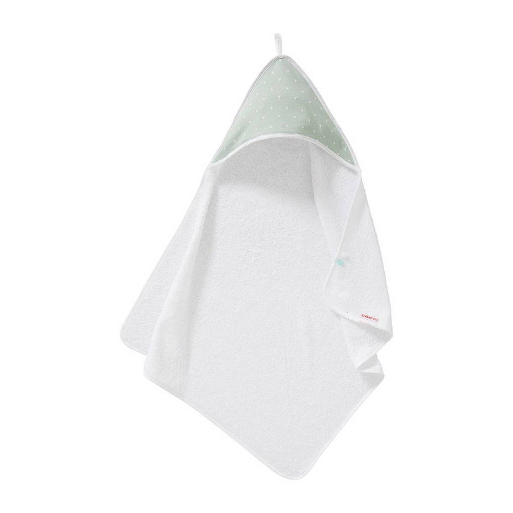 Cottonbaby Driehoek badcape 75x75 cm mint, Mint