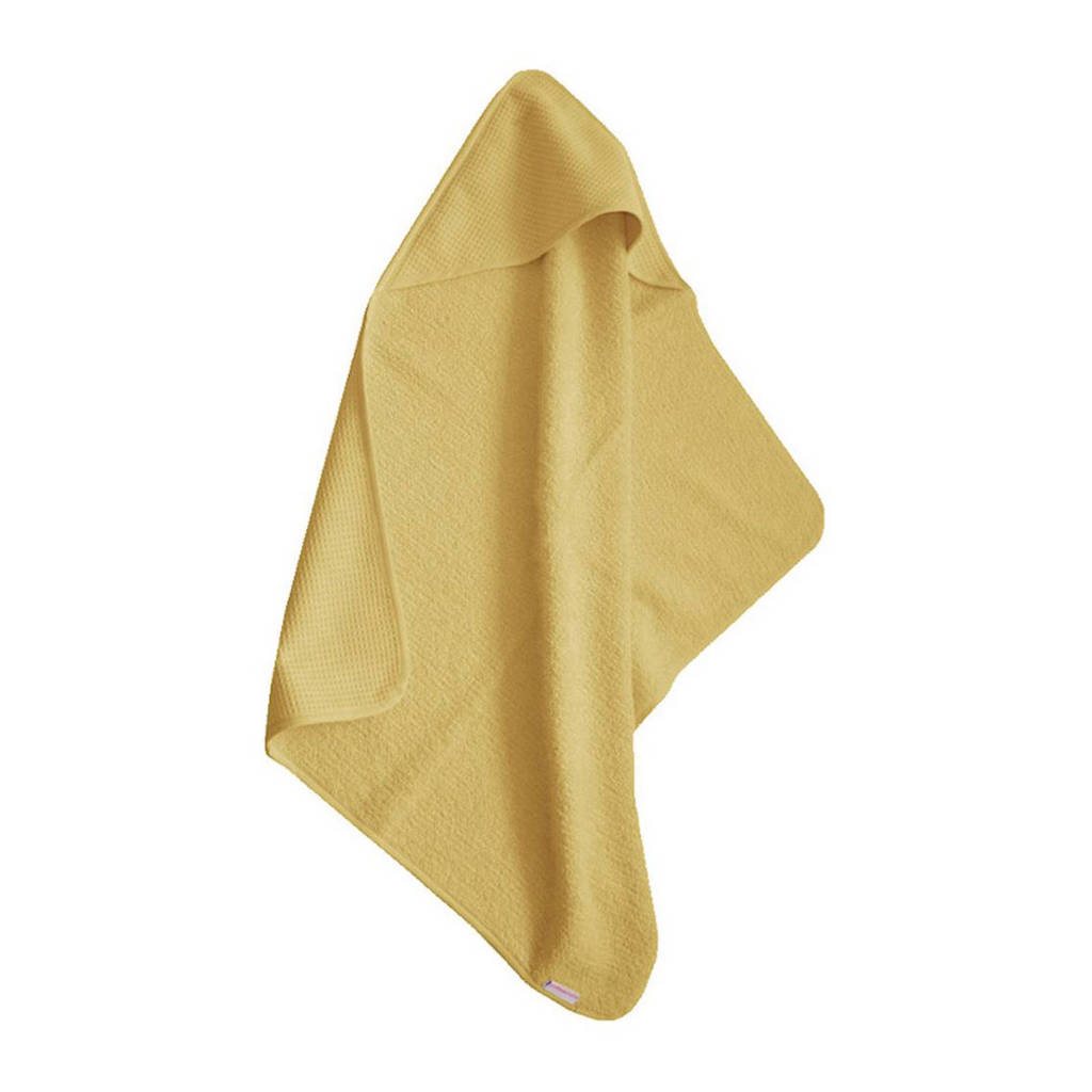 Cottonbaby Wafel badcape 75x75 cm oker, Oker
