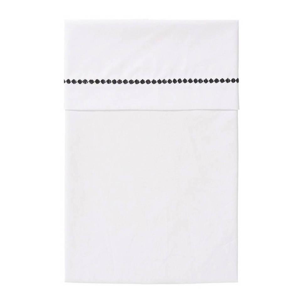 Cottonbaby bolletjes ledikantlaken 120x150 cm zwart, Zwart