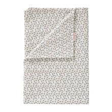 veertjes dekenhoes 100x135 cm wit/zwart
