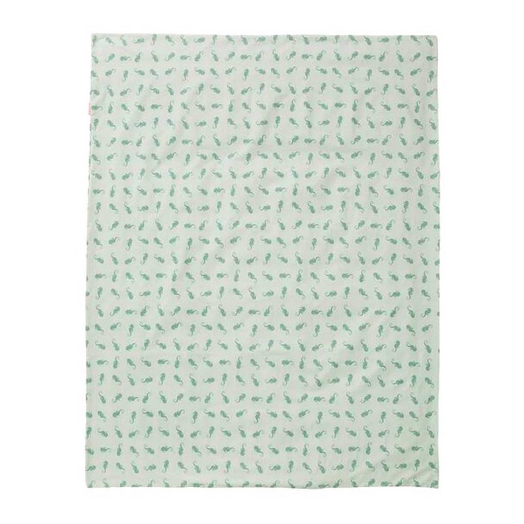 Cottonbaby zeepaardjes dekenhoes 100x135 cm mint, Mint