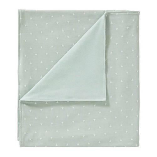 Cottonbaby driehoek ledikantdeken gevoerd 120x150 cm mint kopen