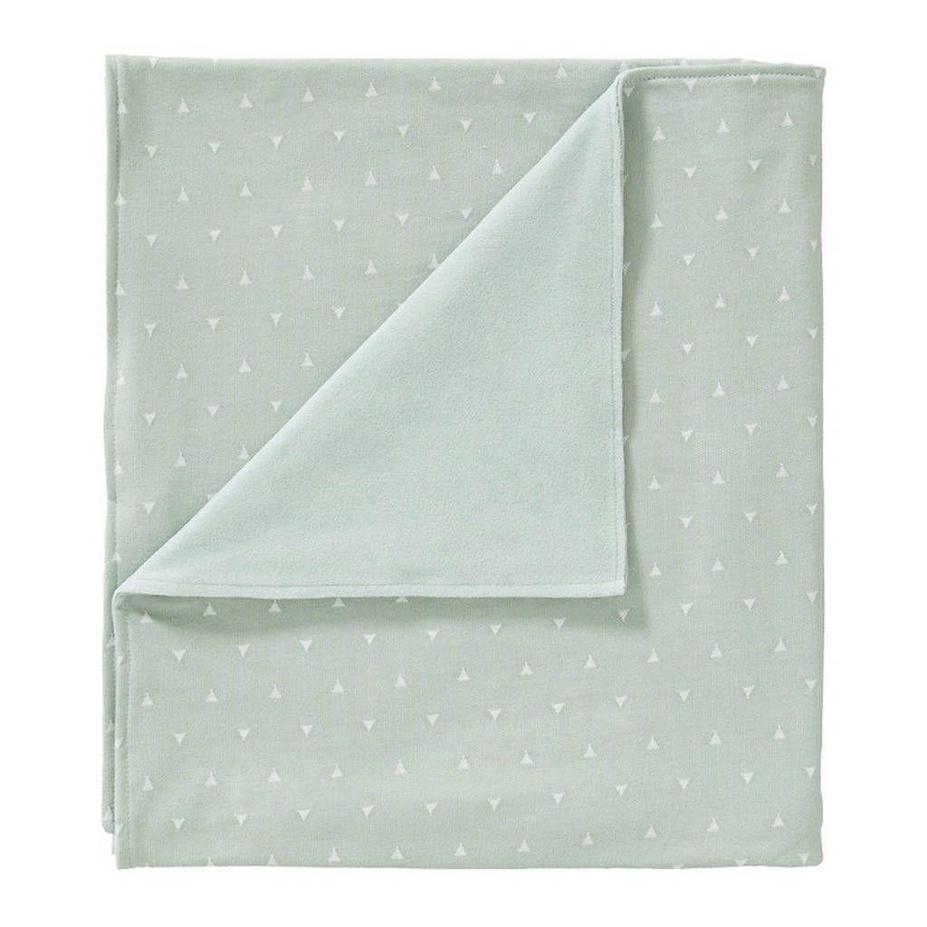 Cottonbaby driehoek ledikantdeken gevoerd 120x150 cm mint, Mint