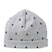 driehoek babymutsje 0-3 mnd grijs