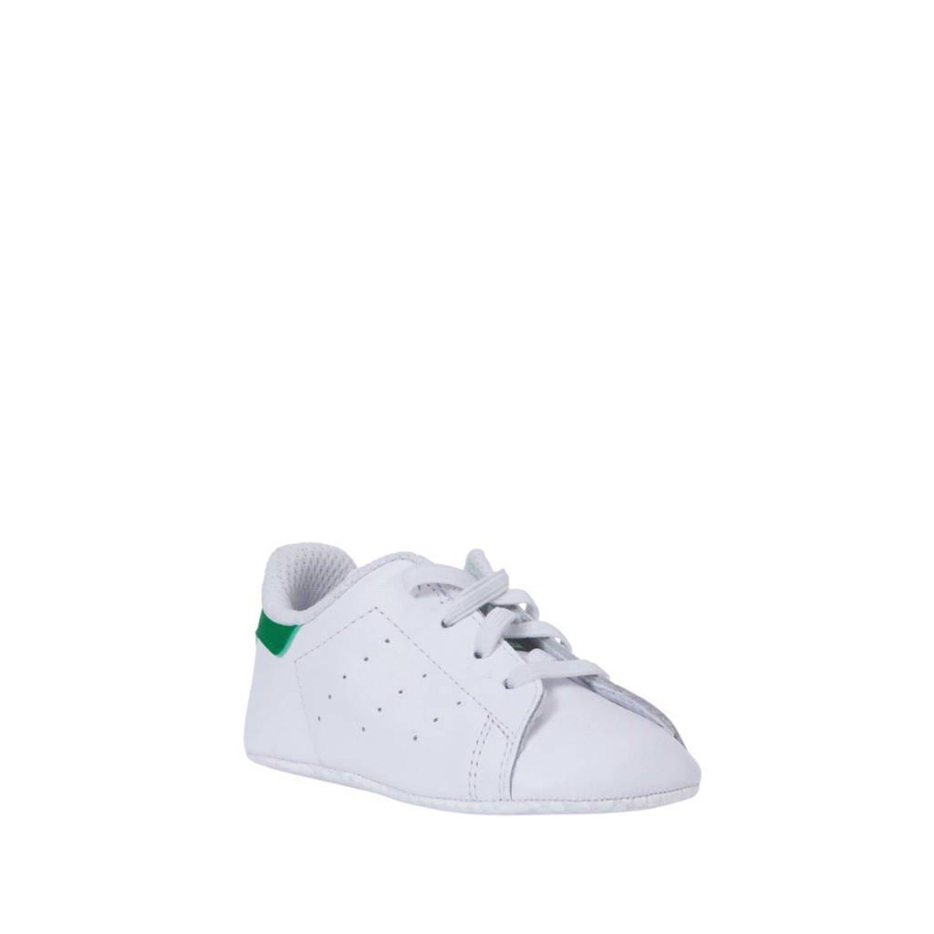 adidas Originals Stan Smith Crib leren sneakers wit/groen, Wit/groen