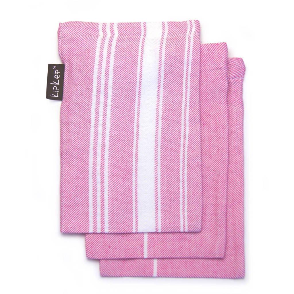 KipKep Blenker washandjes (3 stuks) roze, Roze
