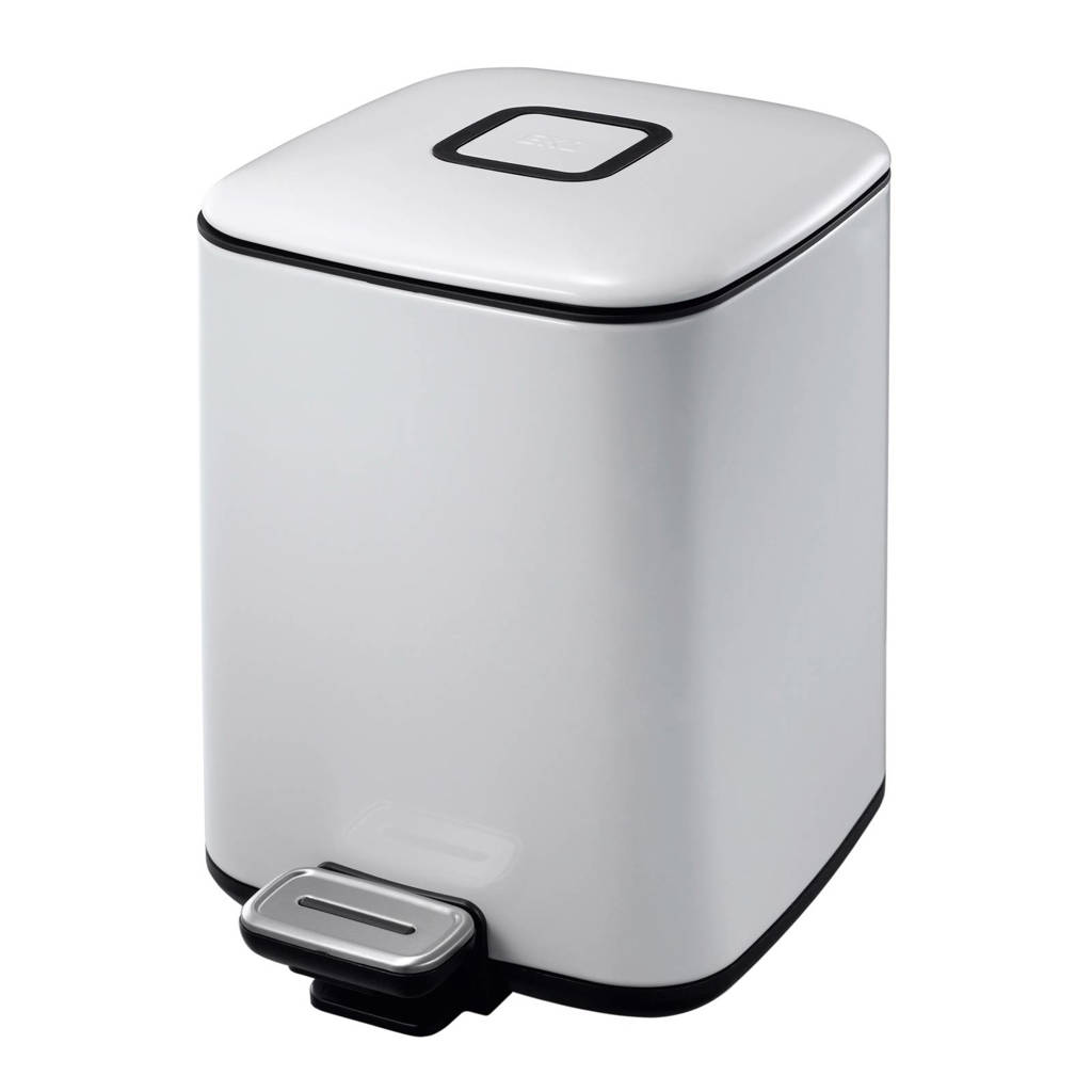EKO Regent pedaalemmer (6 liter) Wit